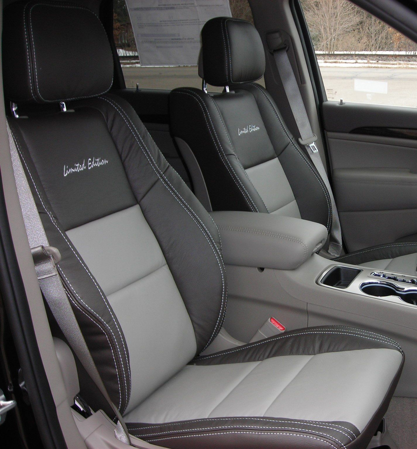 Limited Edition Custom Automotive Leather Seats Jeep Grand Cherokee Custom Seat Covers Clean Leather Seats Jeep Grand