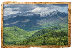 Scenic Smoky Mountains view from Rocky Top Sports World