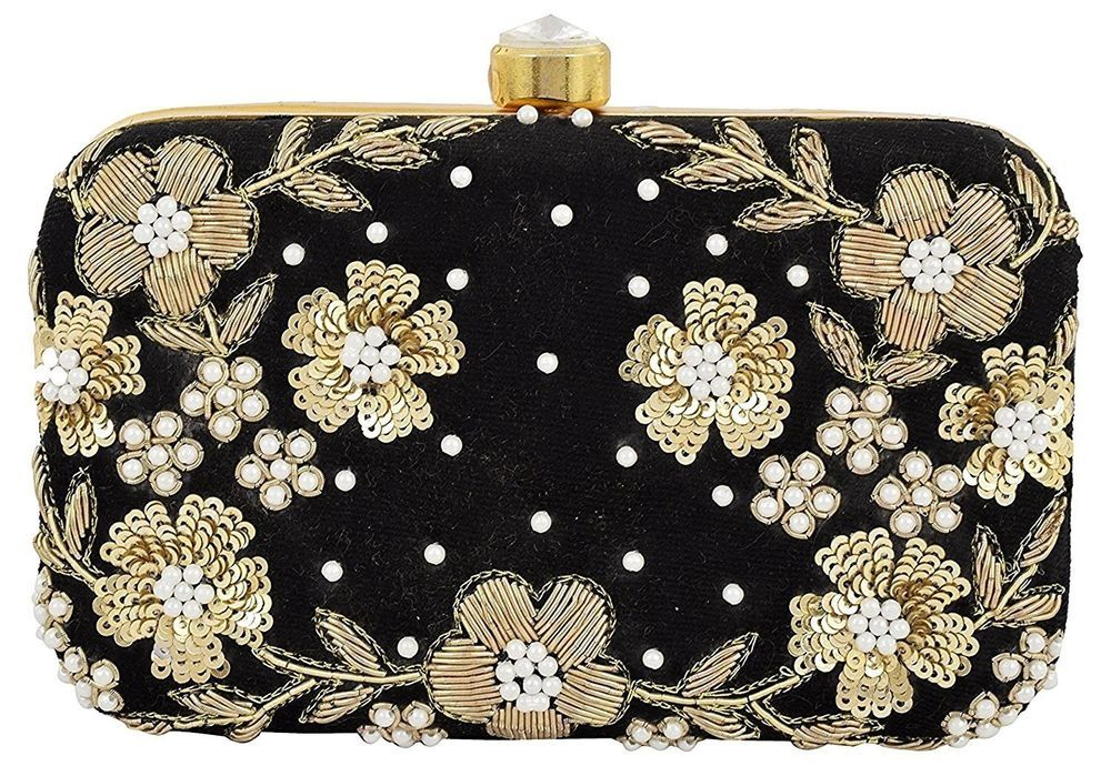 e2177a8b0daa Indian Women Bridal Wedding Ethnic Purse Bead Evening Party Bag Clutch Prom  Ball  Handmade  Clutch