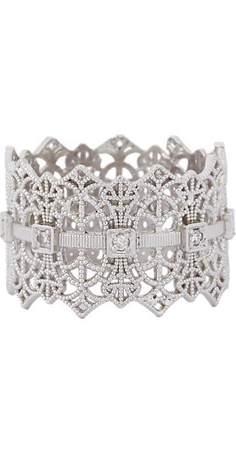 Grace Lee Gold Lace Crown Ring - Rings - Barneys.com