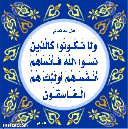 ١٩ الحشر Social Security Card Cards Quran Verses