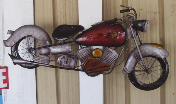 Charmant 40 Inch Metal Motorcycle Wall Art
