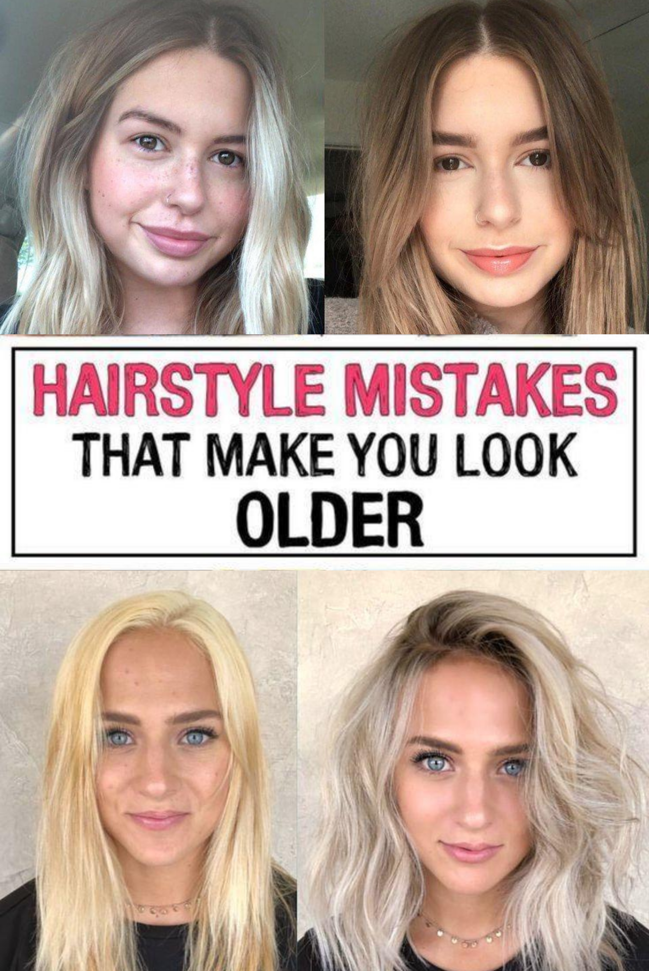 37 Hairstyle Mistakes That Are Aging You In 2020 Hairstyle Hair Advice Mom Hairstyles