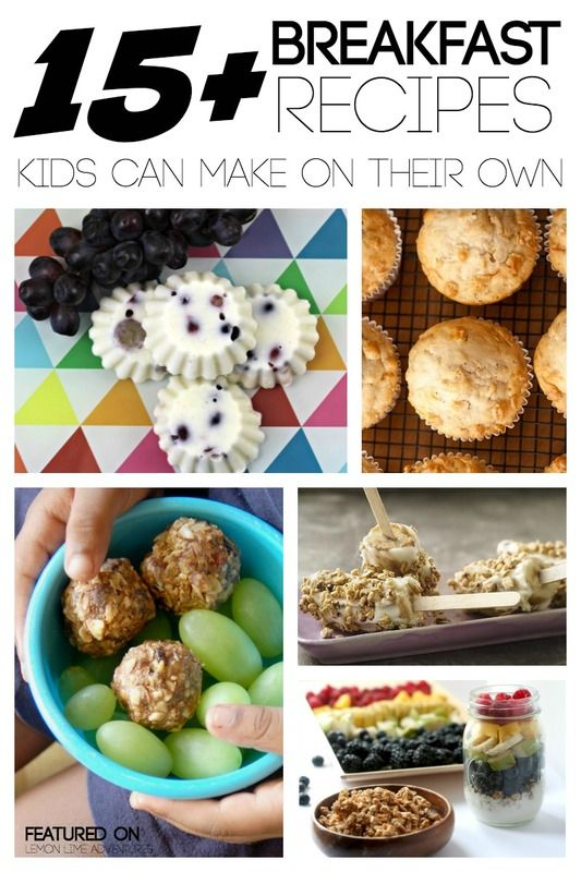 15 Breakfast Recipes Kids Can Make Themselves Breakfast Recipes Kids Breakfast For Kids Recipes Kids Can Make