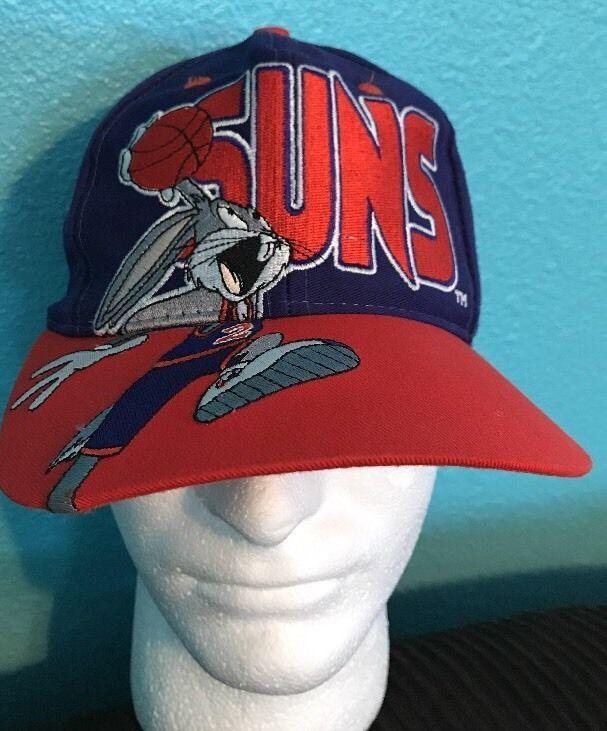 meet ff738 03ca8 PHOENIX SUNS Hat Cap Snapback Vintage NBA Basketball Looney Toons 90s Space  Jam   eBay