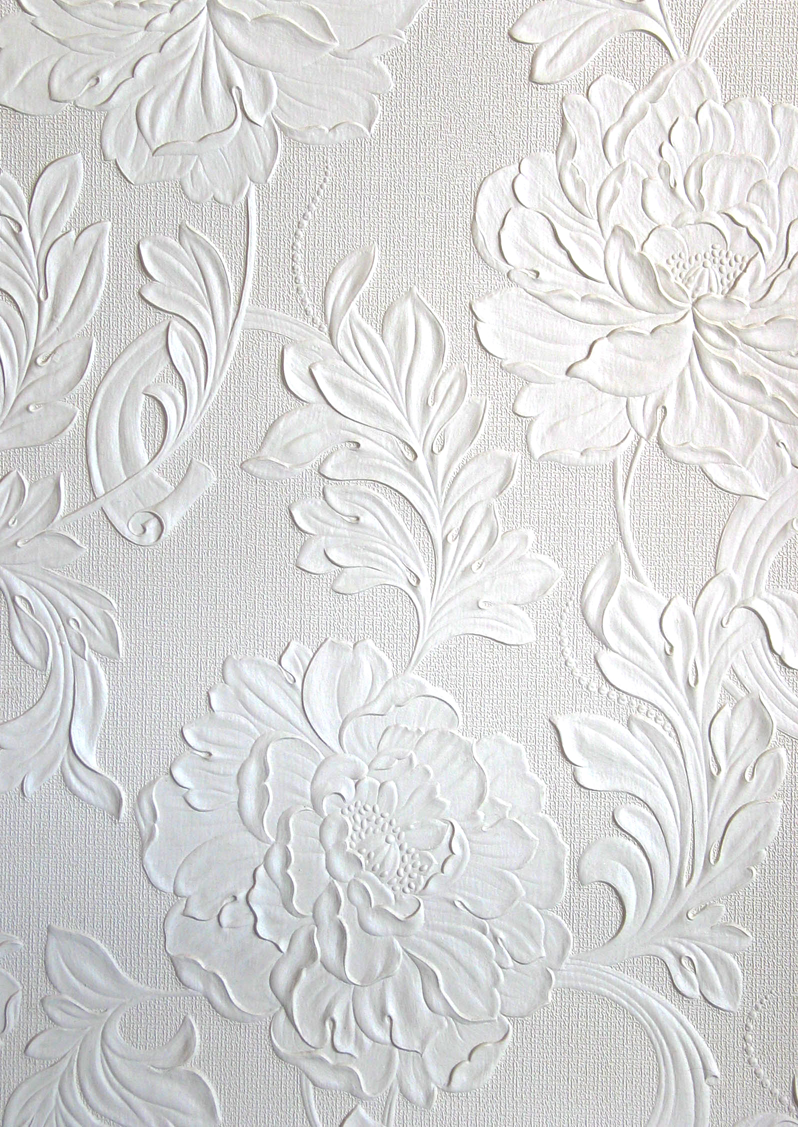 Dress up walls with textured paintable wallpaper called anaglypta - Embossed Wallpaper Borders