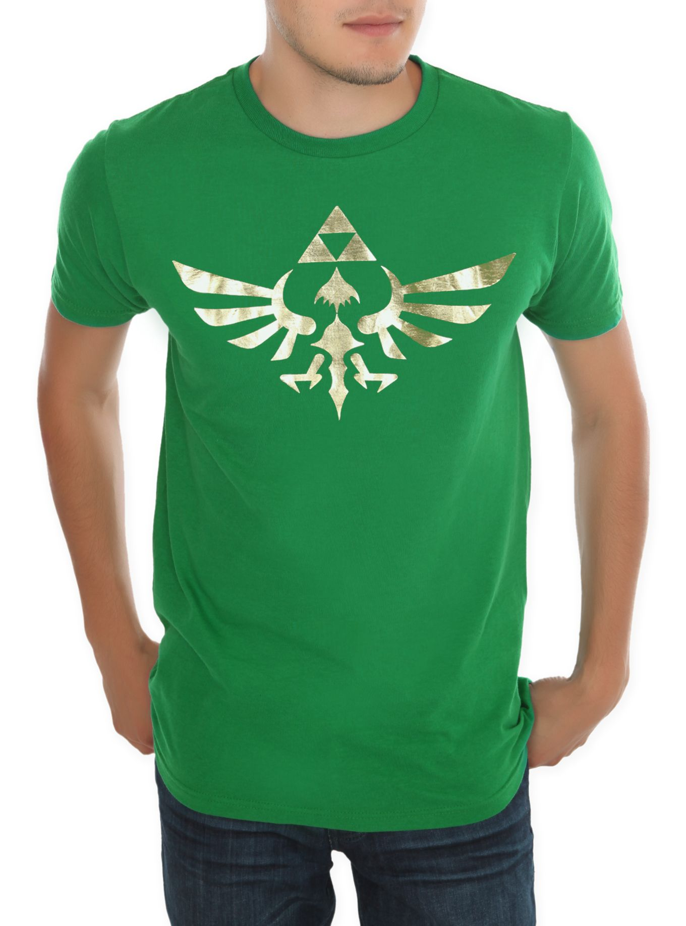 ce8fe37dd Nintendo The Legend Of Zelda Gold Triforce T-Shirt | Tees Tees Tees ...