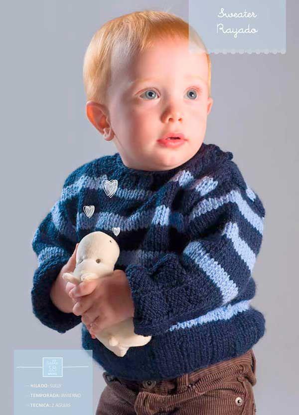 Pulover dos agujas para bebe tutorial | Crochet y Dos Agujas ...