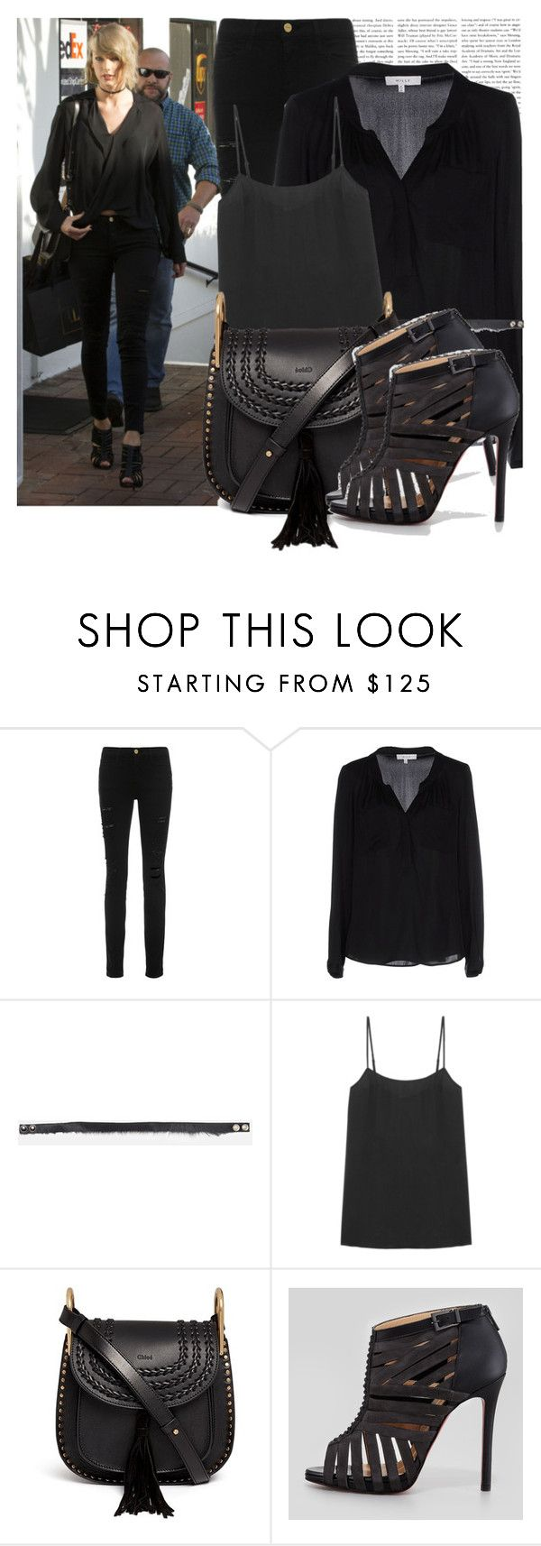"""""""Dress like Taylor Swift"""" by megi32 ❤ liked on Polyvore featuring Frame Denim, Milly, Equipment, Chloé and Christian Louboutin"""