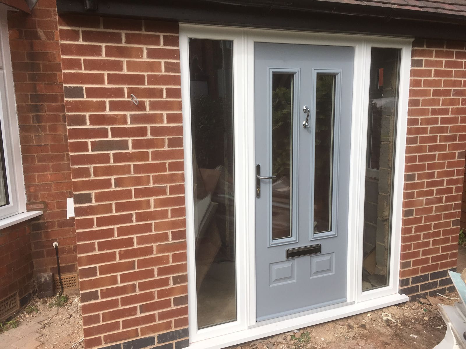 Fenesta upvc doors windows glass flooring - White Synseal Upvc Six Section Bay Windows At The Front Of The Building And Grey Upvc