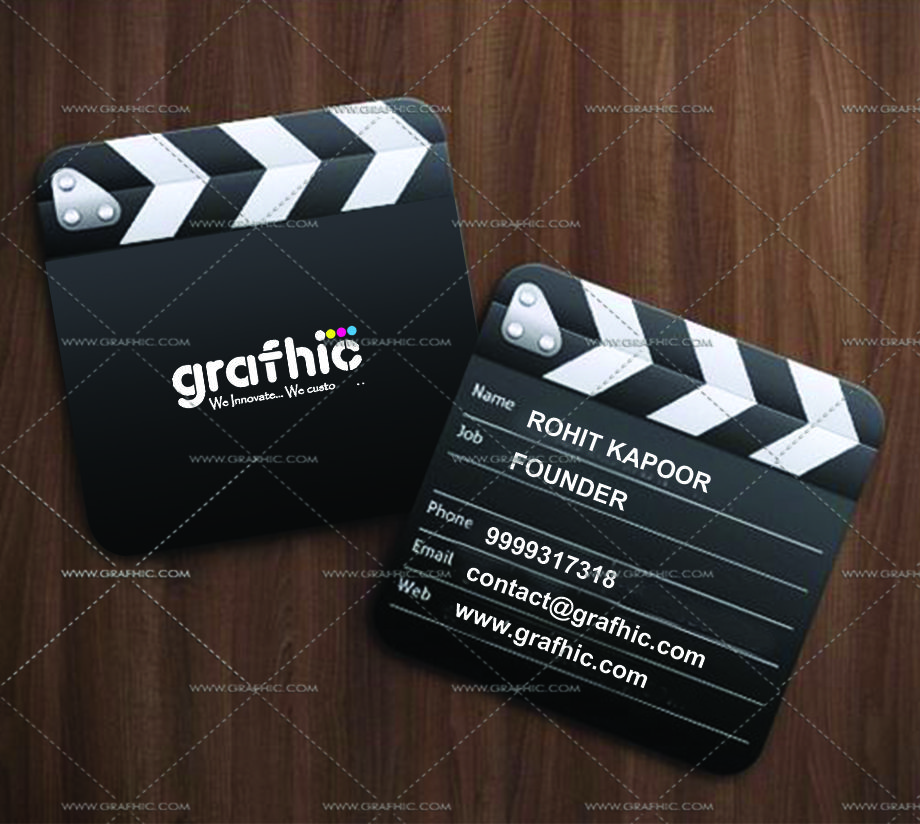 Filmic Plus Special Shape Business Card Good Looking Business Cards Make A Power Shaped Business Cards Innovative Business Cards Business Cards Creative