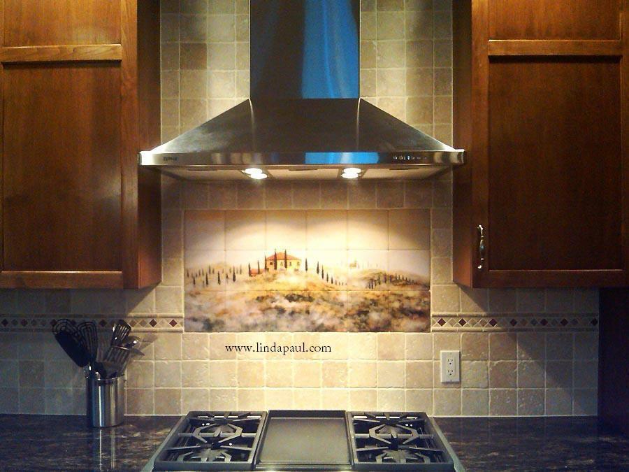 Tuscany In The Mist Kitchen Tile Mural Backsplash Backsplash