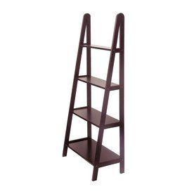 Winsome Wood 4 Tier Dark Espresso Wood Bathroom Shelf 92428