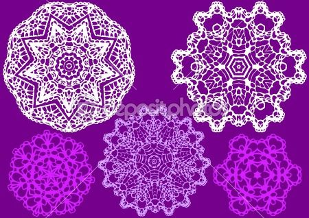 Lace doily, vector by beaubelle - Stock Vector