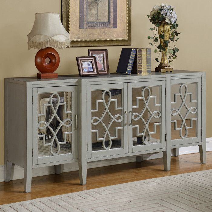 Coast To Imports Manry Mirrored Sideboard Reviews Wayfair