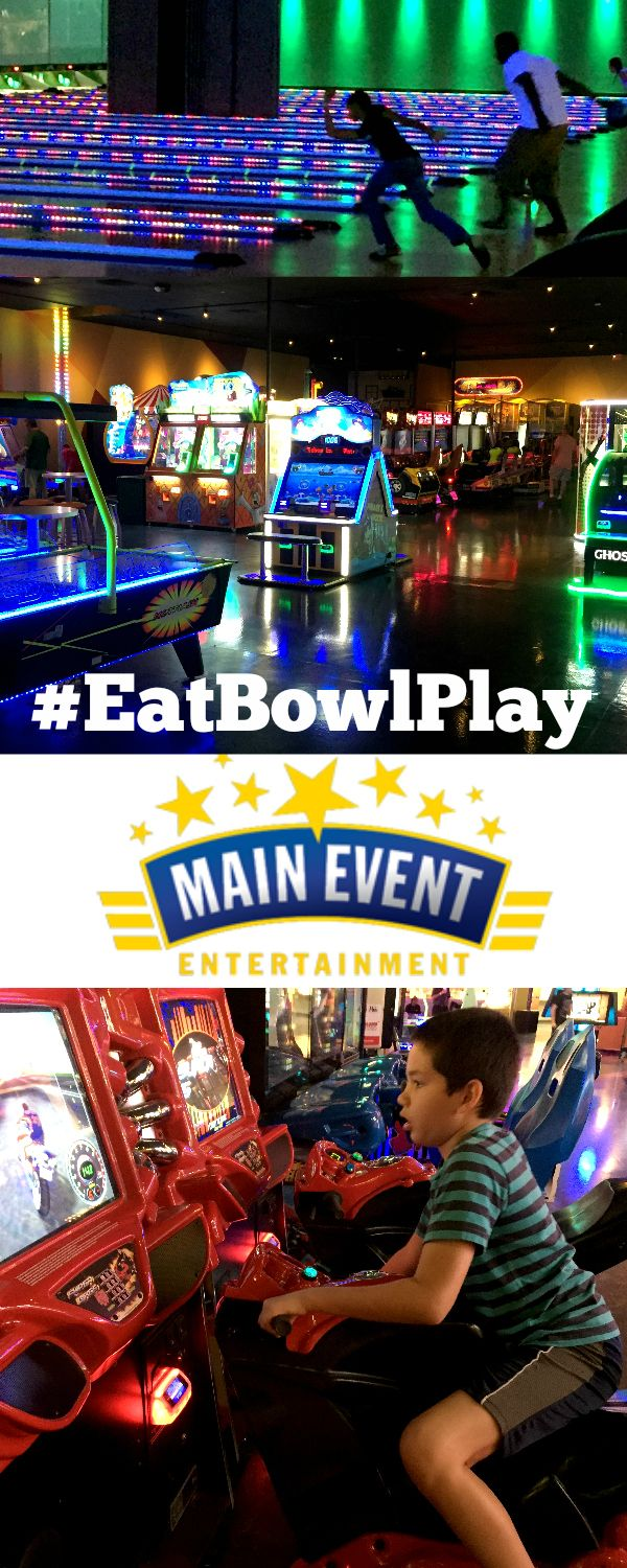 Mark your calendars for Monday, October 10 when it's FREE to #EatBowlPlay at Main Event Entertainment  See what my family loves to do at Main Event ------> http://freebies4mom.com/eatbowlplay/ #ad #HeadForFun