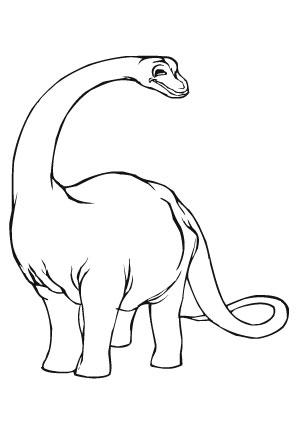 ausmalbild kleiner apatosaurus in 2020   ausmalen