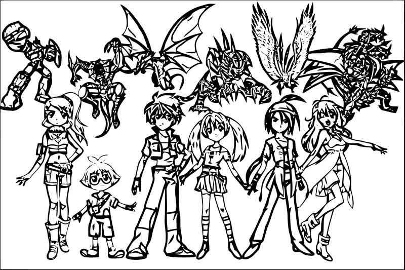 The Bakugan Battle Brawlers And Their Bakugan Coloring Page In 2020 Bakugan Battle Brawlers Coloring Pages Scripture Coloring