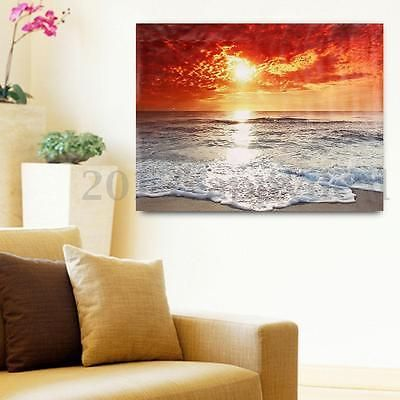 Seaside sunset scenery #canvas print painting #picture #unframed ...