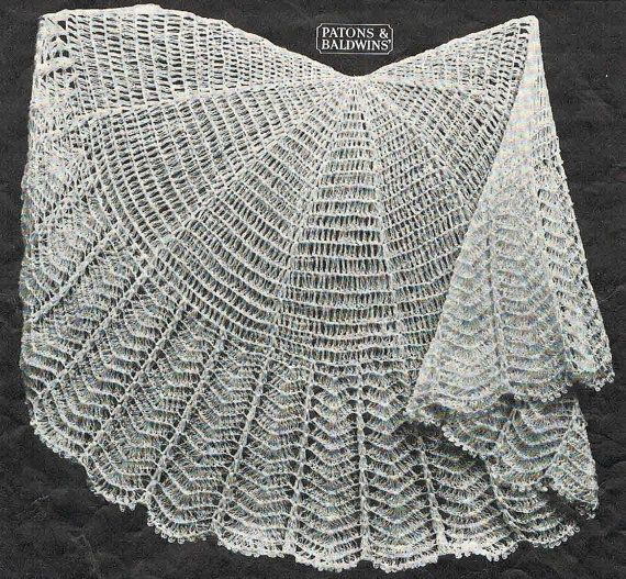 40s style- circular crochet baby shawl pattern- Australian ...