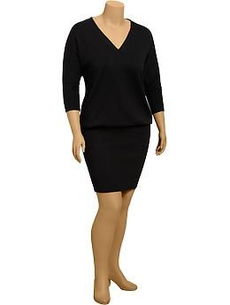 Womens Plus Dolman Sleeve Sweater Dresses