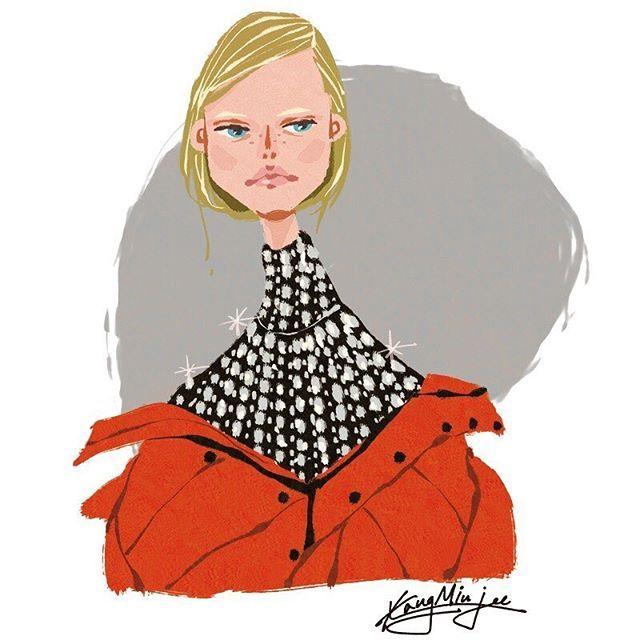 <Fashion Week Sketch> Quick drawing before bed. Balenciaga Fall 2016 Ready to wear Good night! #fashion #fashionillustration #fashionshow #fashionweek #fashionblog #fashionblogger #illustration #drawing #art #artwork #artsy #instafashion #instastyle #instaart #bigfashionbook #kangminjee #minjeekang #balenciaga @balenciaga @drawadot @elleusa @voguemagazine