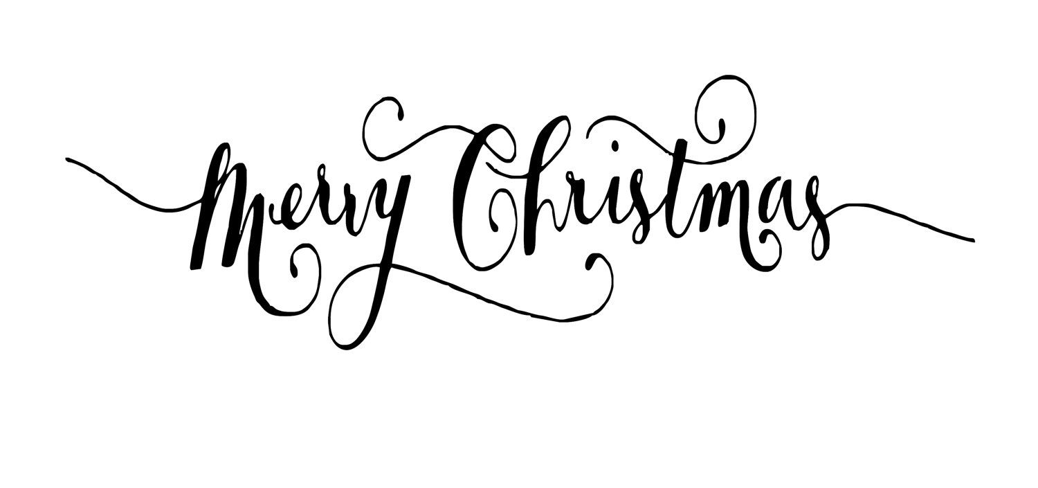 Merry Christmas Fonts Images.Black And White Merry Christmas Font Fancy Handwriting