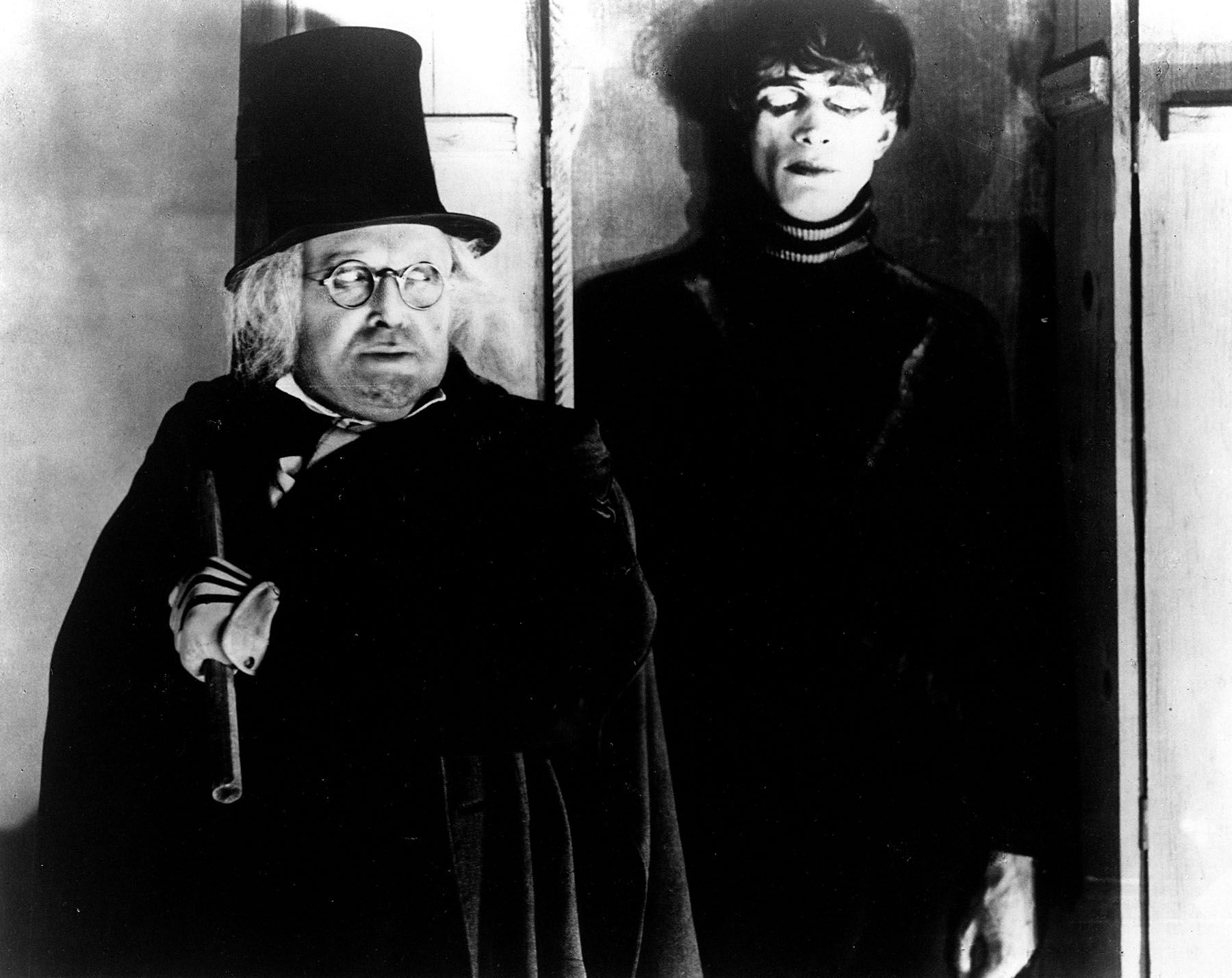 """Werner Krause and Conrad Veidt in """"The Cabinet of Doctor Caligari"""""""