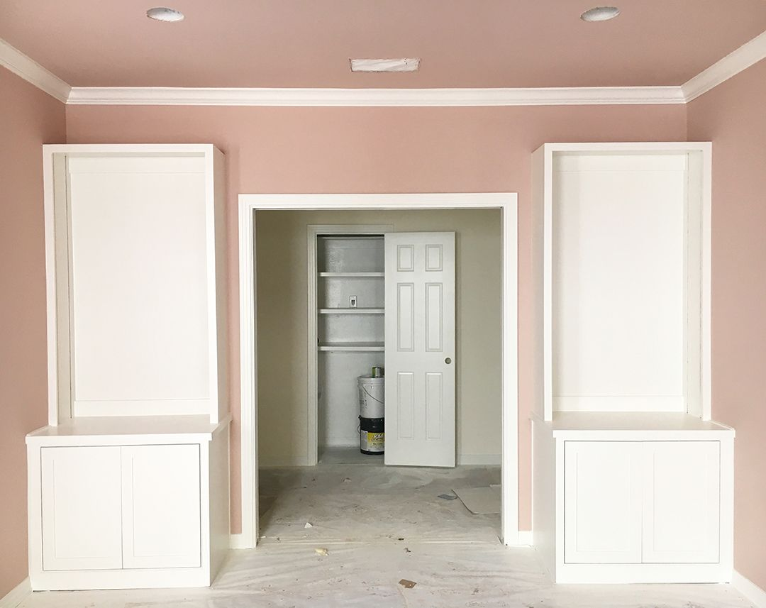 Progress Photos At The New House Paint Colors I Chose Rose Gold Wall Paint Rose Gold Rooms Rose Gold Bedroom