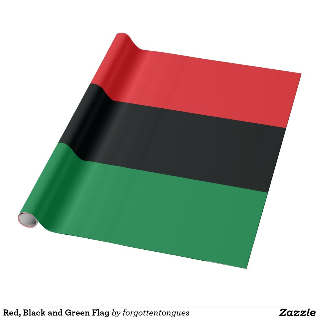 Red Black And Green Flag Wrapping Paper Zazzle Com In 2020 Red Black And Green Flag Wrapping Paper Red