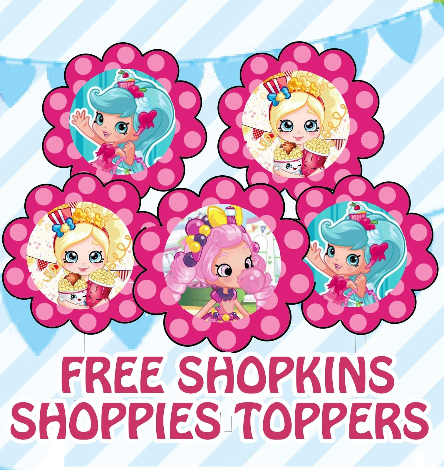 FREE Shopkins Shoppies Birthday Party Printables