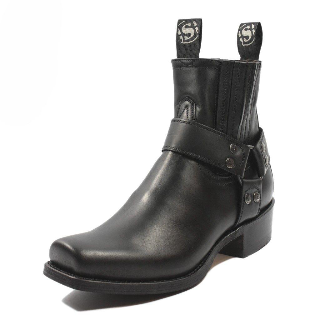 Sendra Boots 8286 Blues Pull Oil Black   Boots men, Boots