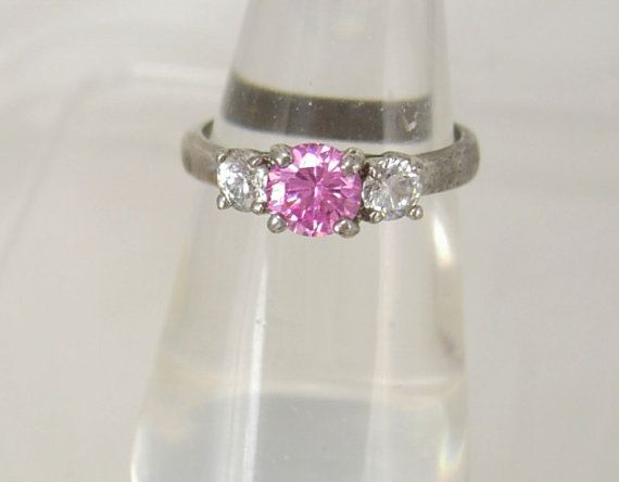Vintage Pink Ice Rhinestones Ring Engagement by NeatstuffAntiques, $20.00