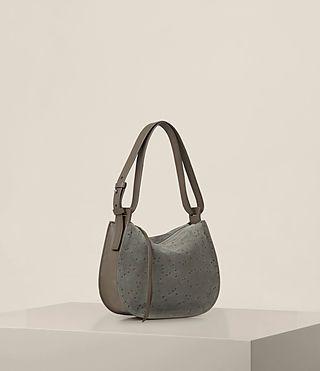 cce608edfb39f ALLSAINTS UK  Womens Echo Mini Hobo Bag (Smoke Grey)