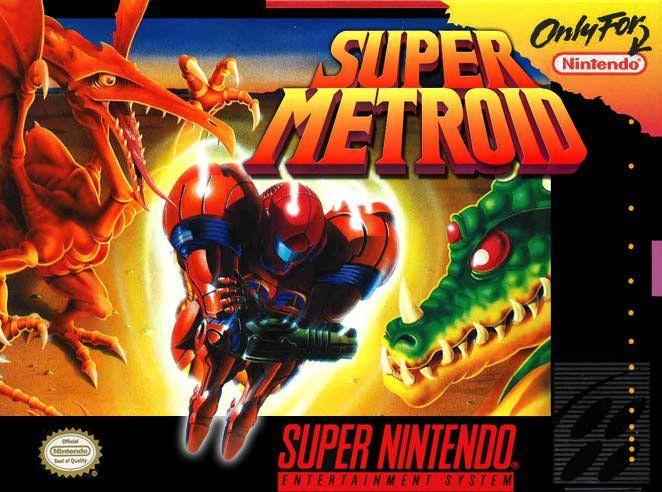 New Super Metroid Box Art | SNES | Super nintendo, Metroid