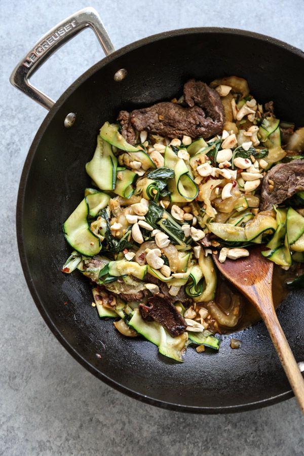 zucchini noodle pad see ew  recipe  recipes