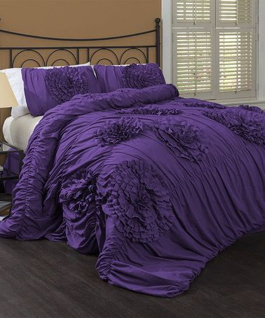 Take A Look At This Purple Serena Comforter Set By Lush