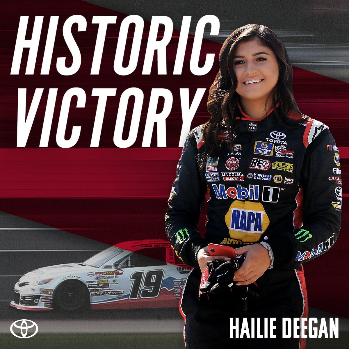 Hailiedeegan Makes History And Becomes The First Female Nascar Winner In Nearly 30 Years Female Racers Female Race Car Driver Nascar Drivers