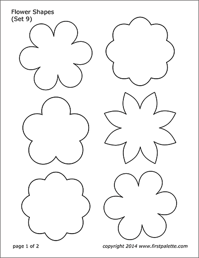 Strawberry | Free Printable Templates & Coloring Pages | FirstPalette.com #feltflowertemplate