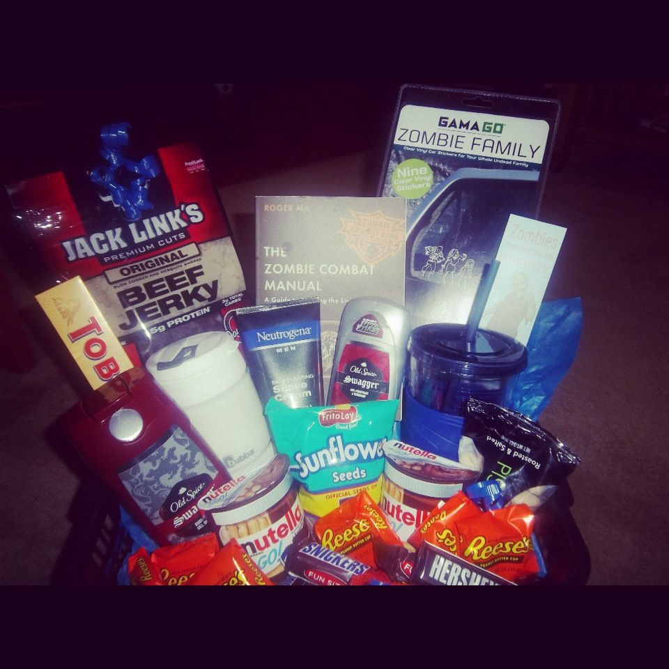My Husbands Anniversary Gift A Man Basket Great Gift