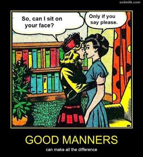 Good manners #teamlesbian