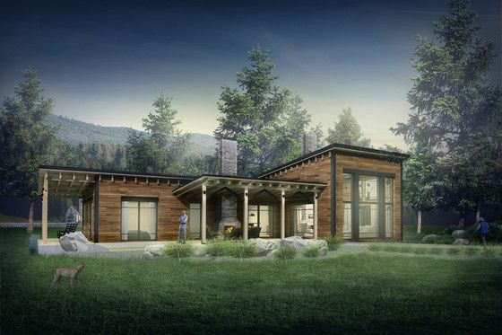 Contemporary Style House Plan 3 Beds 2 Baths 2268 Sq Ft Plan 924 1