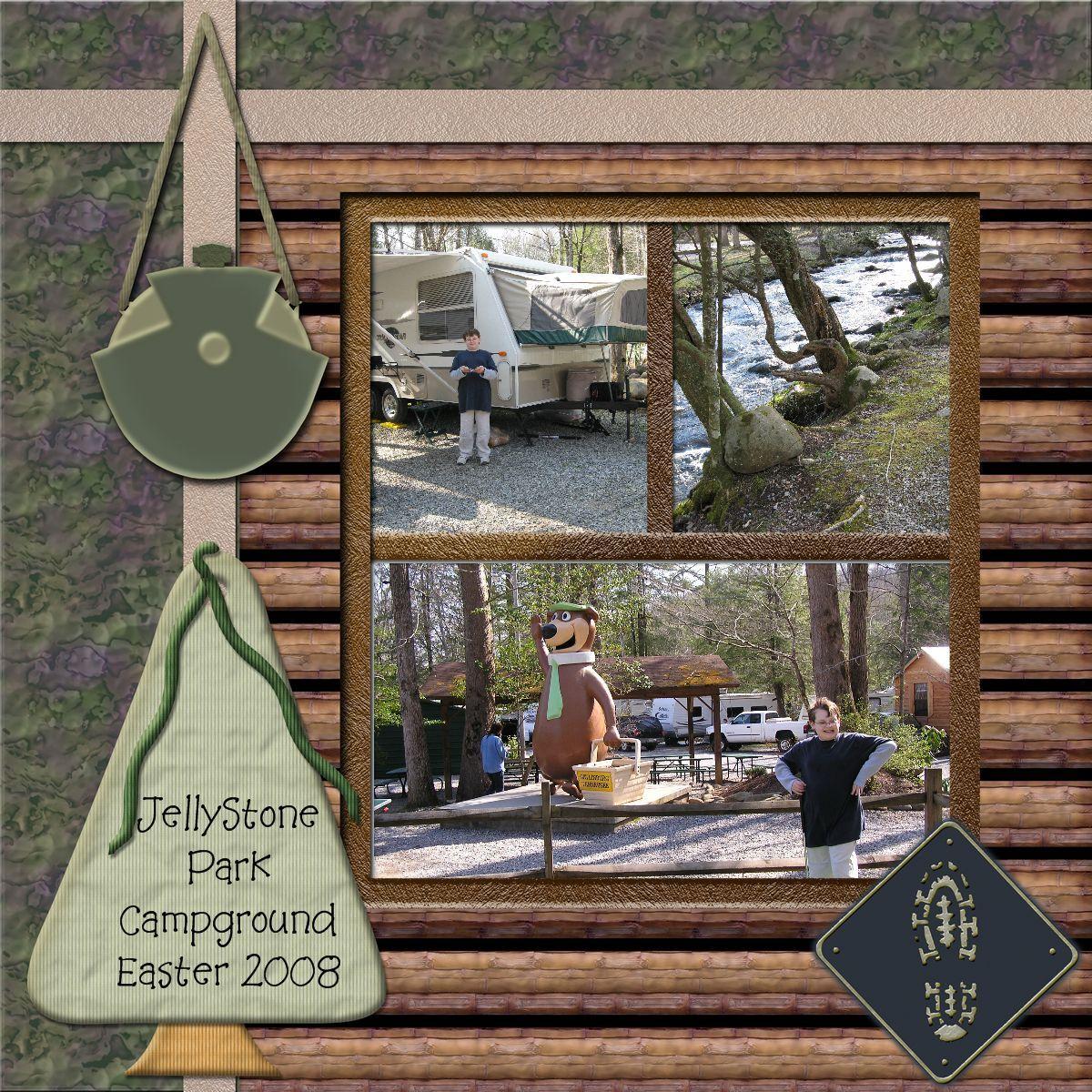 Girl scout scrapbook ideas - Jellystone Scrapbook Page Idea