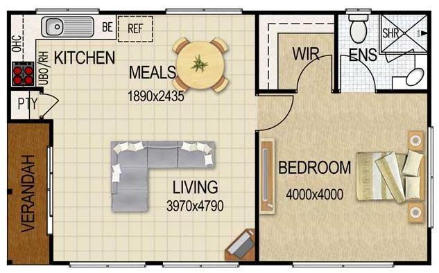 Plano de departamento de 36 metros cuadrados planos de - Apartamentos de 28 metros cuadrados ...