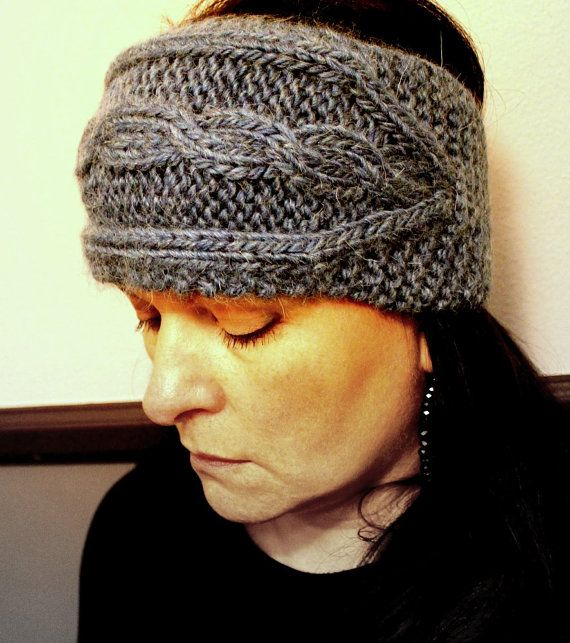 Fast Cabled Headband Knitting Pattern Adult Size