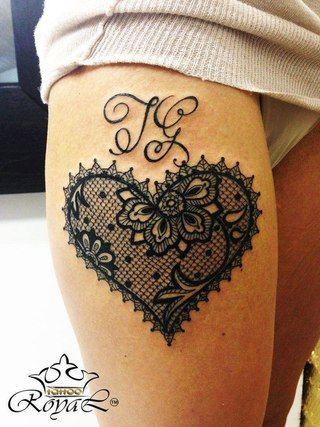 Coeur Dentelle Tattoo Tattoos Tattoos Lace Tattoo Et Tattoo Designs