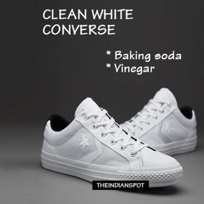 How To Clean White Converse Canvas Shoes Easily At Home