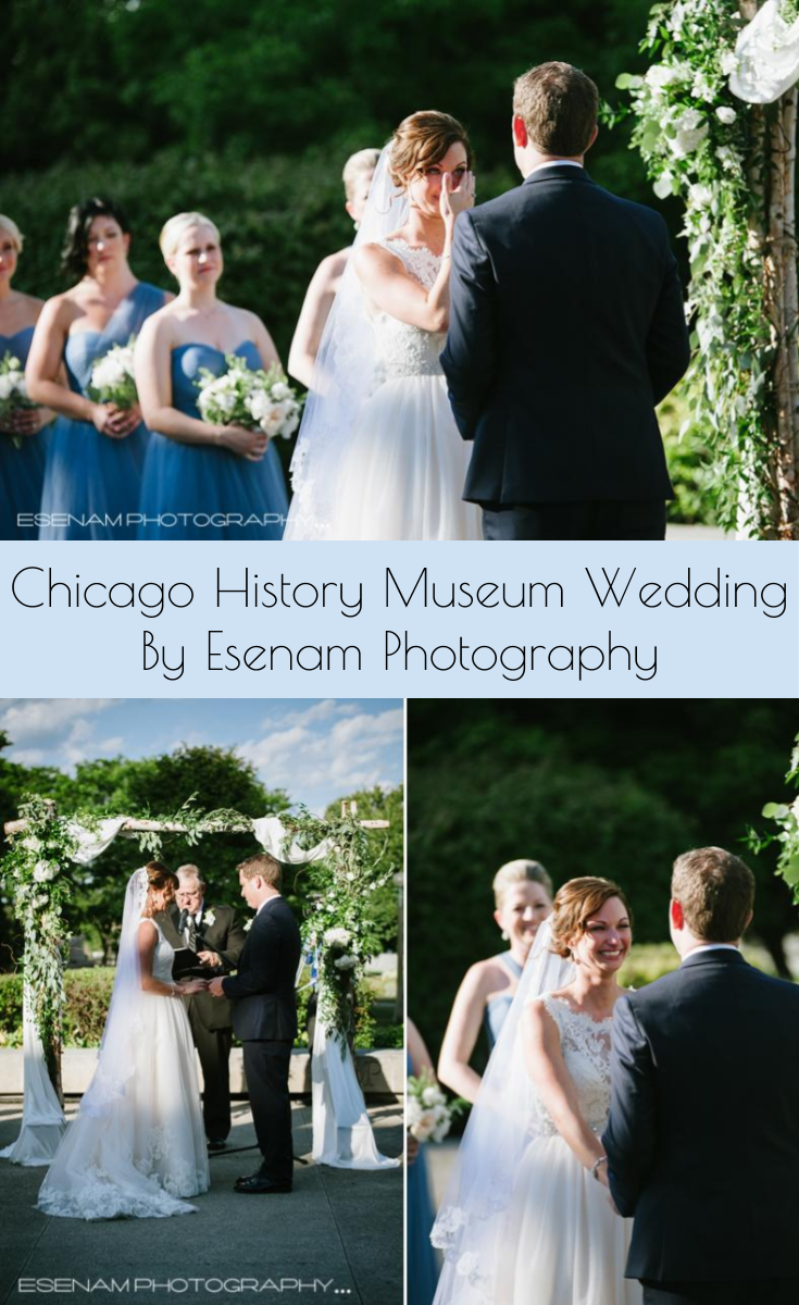 Bride And Groom Share Their Vows During This Chicago Wedding Ceremony At The History Museum