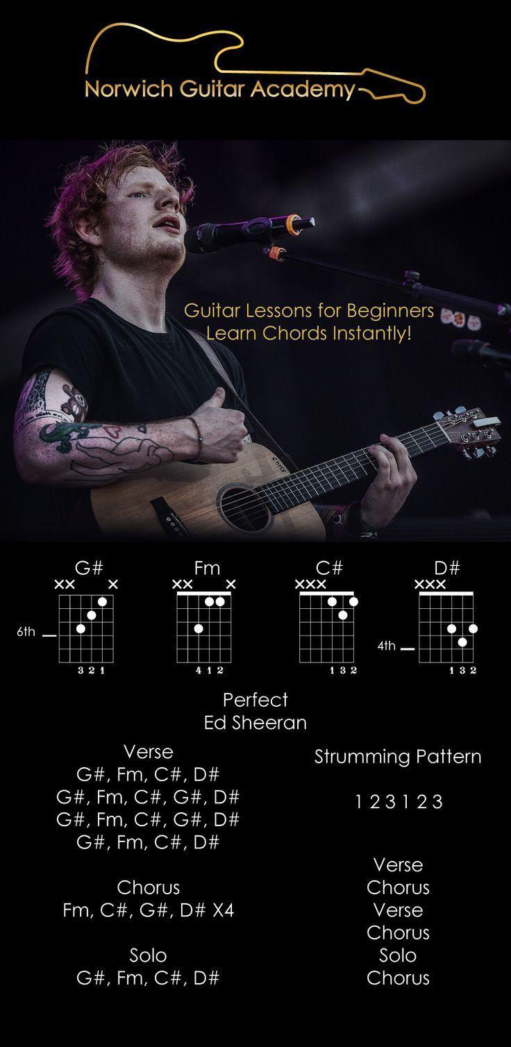 Perfect Ed Sheeran chords beginner guitar lesson, easiest