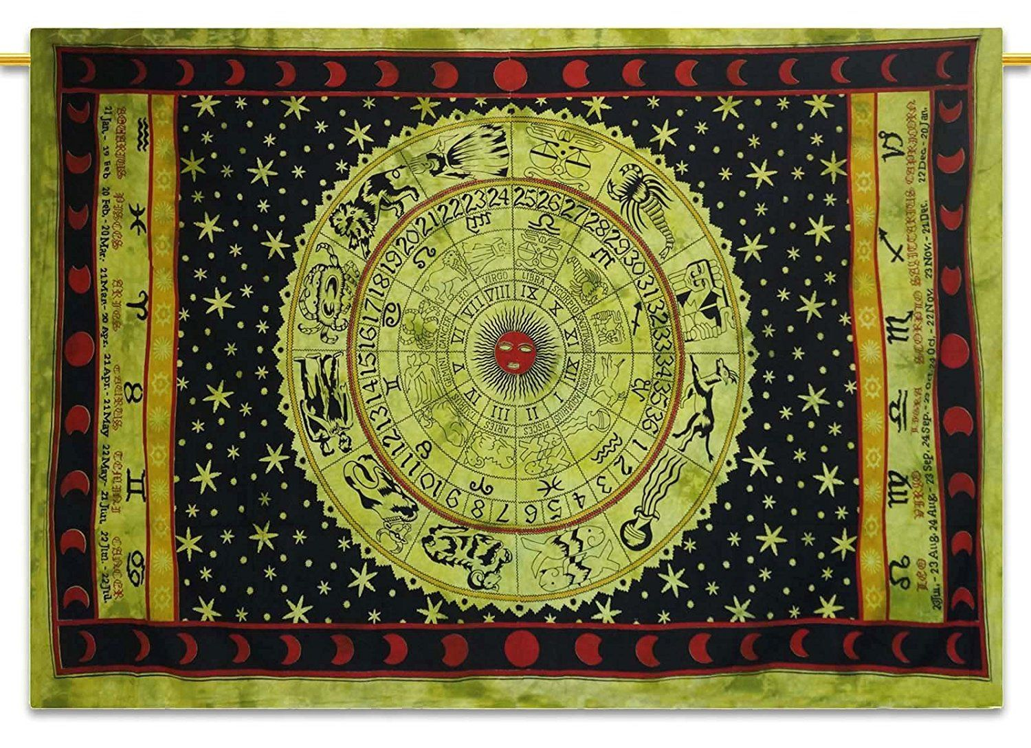 Zodiac Tapestry Cotton Twin Size Wall Hanging Decor Boho Hippie ...